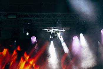 Riprese con drone di concerti